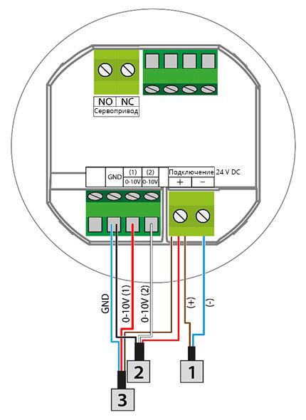 Схема подключения регулятора VER-24/VER-24S